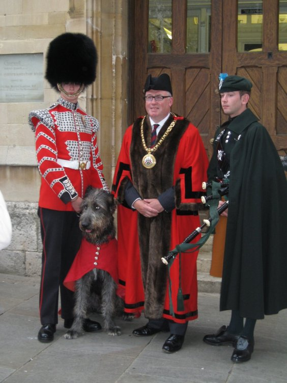Fergal with the Mayor