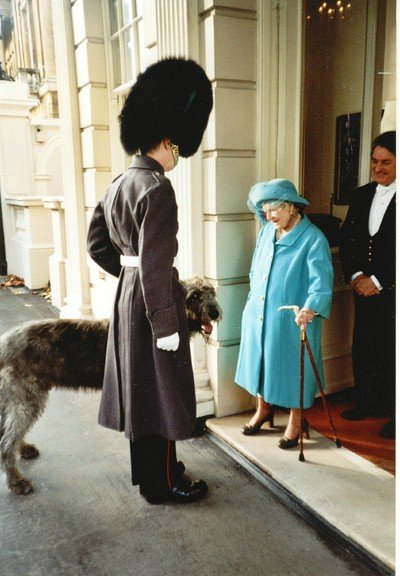 Aengus greeting Queen Mother