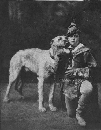 Irish Master of the Hunt with wolfhound