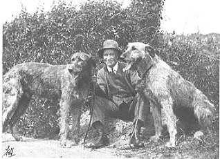 I.W.Everett with two hounds