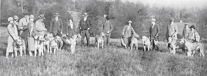 Group at coursing meeting