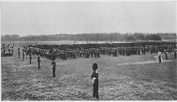 Inspection by Field Marshal Earl Roberts