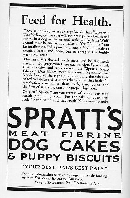Spratts advertisement